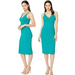 [Donna Morgan] NWT Deep V-Neck Crepe Sheath Dress